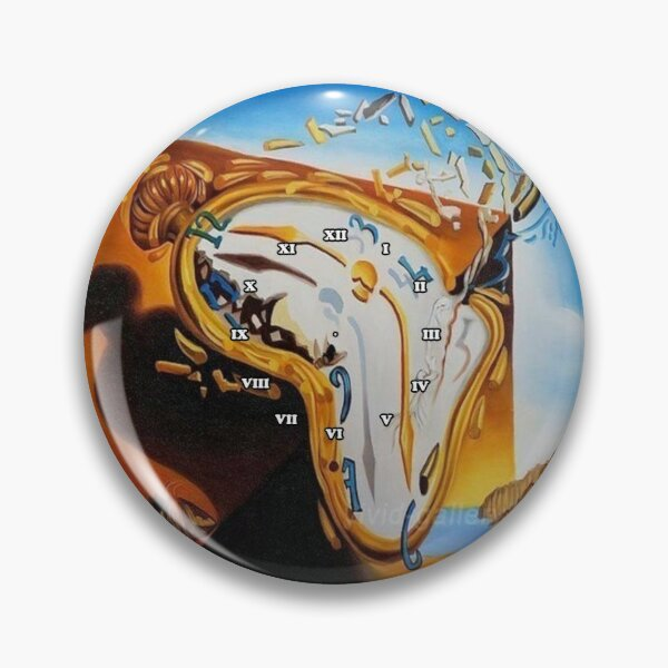 Salvador Dali Paintings Watches Pin