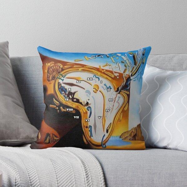 Print, Salvador Dali Paintings Watches Throw Pillow