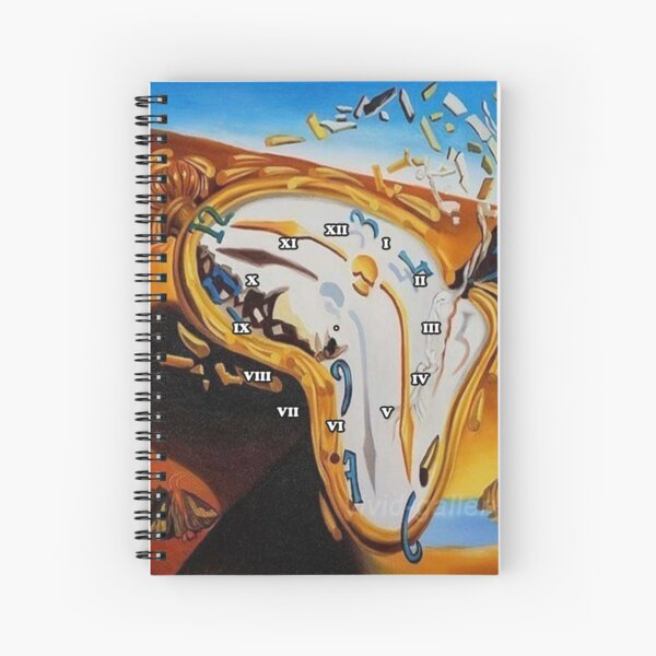 Salvador Dali Paintings Watches Spiral Notebook