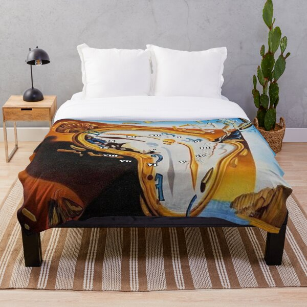 Salvador Dali Paintings Watches Throw Blanket