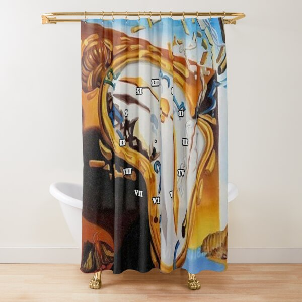 Salvador Dali Paintings Watches Shower Curtain