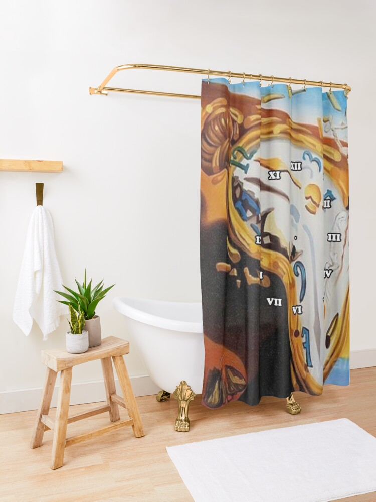 Alternate view of Salvador Dali Paintings Watches Shower Curtain