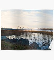 Worden's Pond At Sunset - Series - NW - Southern Rhode Island Poster