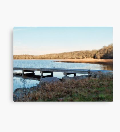 Worden's Pond At Sunset - Series - East - Southern Rhode Island Canvas Print