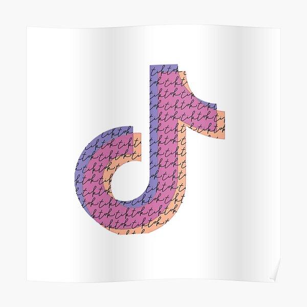 Cute Tik Tok Logo Posters   Redbubble