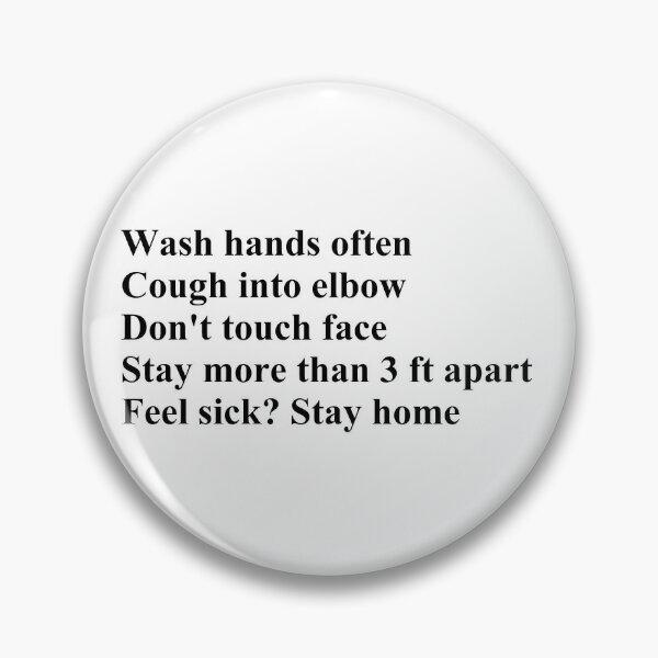 Wash Hands Often Pin
