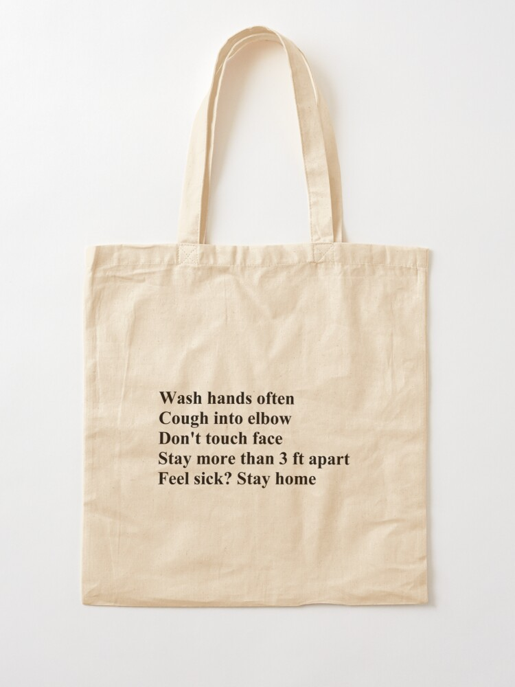 Alternate view of Wash Hands Often Tote Bag