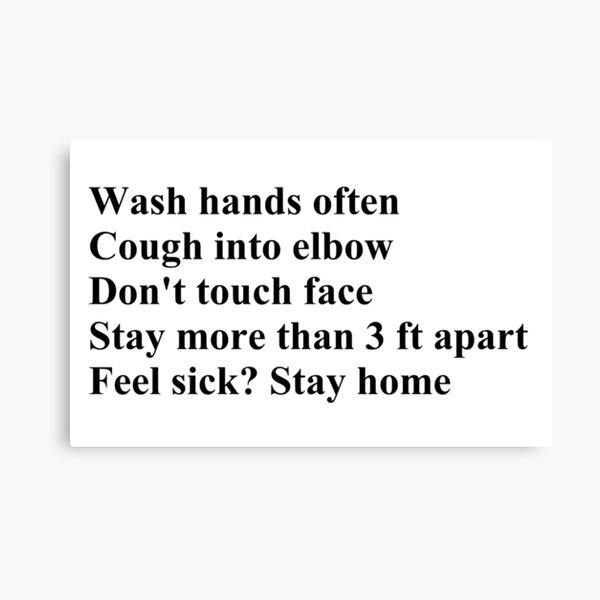 Wash Hands Often Canvas Print