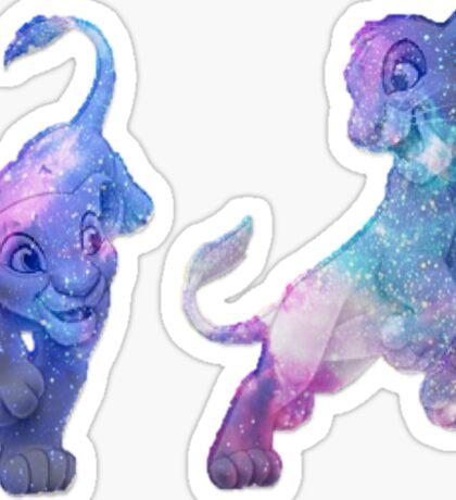 Galaxy Lions Sticker