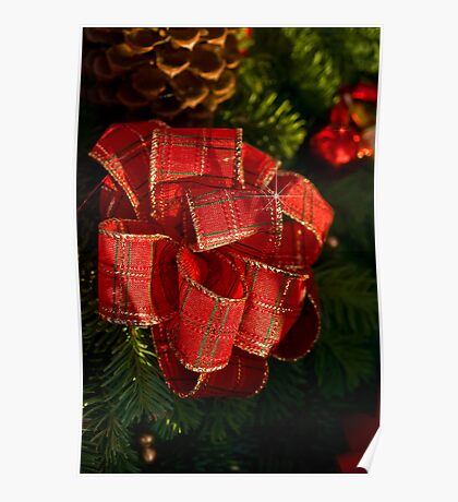 Holiday ribbon Poster