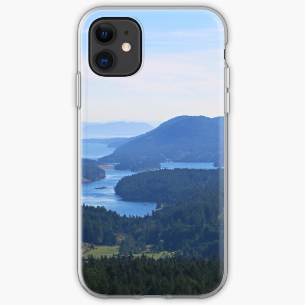 Islands view from Mount Parke Mayne Island iPhone Soft Case