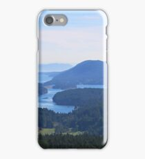 Islands view from Mount Parke Mayne Island iPhone Case/Skin