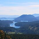 Islands view from Mount Parke Mayne Island by TerrillWelch