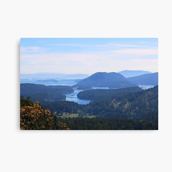 Islands view from Mount Parke Mayne Island Canvas Print