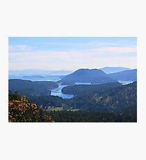 Islands view from Mount Parke Mayne Island Photographic Print