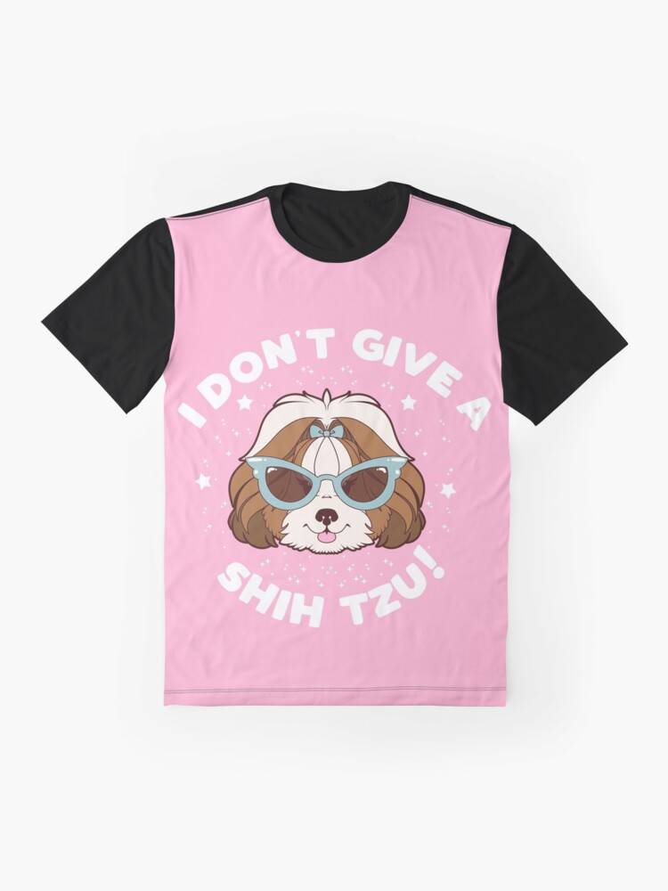 Alternate view of I Don't Give A Shih Tzu - Brown Graphic T-Shirt