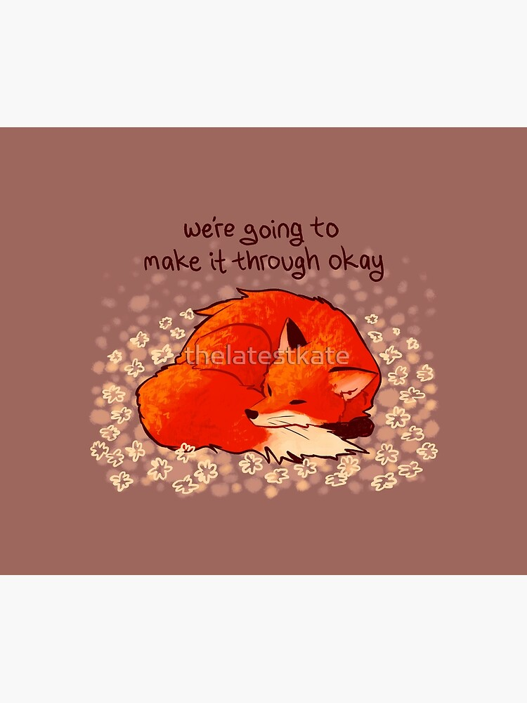 """""""We're Going to Make it Through Okay"""" Sleeping Flower Fox by thelatestkate"""