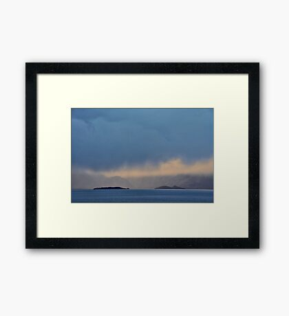 Islands and Cloud Framed Print