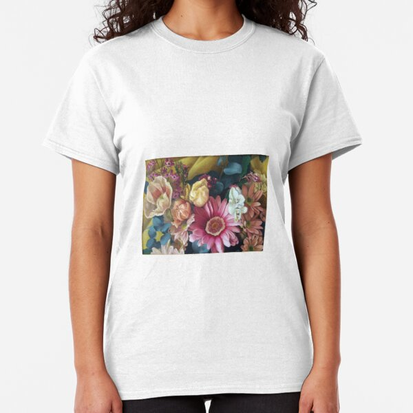 Flowers - small print - original work - oil on canvas by Avril Thomas Classic T-Shirt