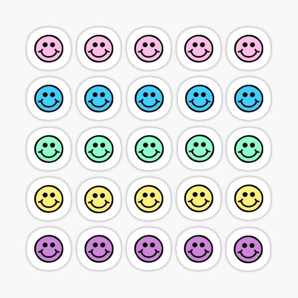 Smiley face rainbow mini pack Sticker