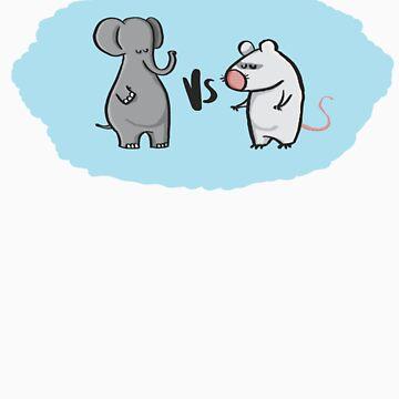 Elephant vesus Mouse by creativepanic