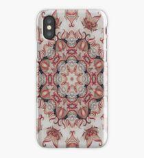ornate red -N53 iPhone Case/Skin