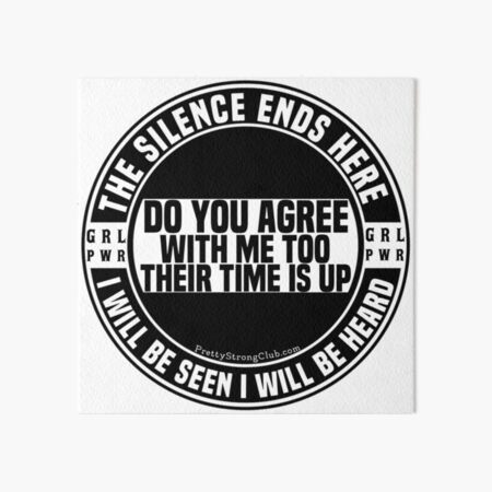 Do You Agree With ME TOO Art Board Print