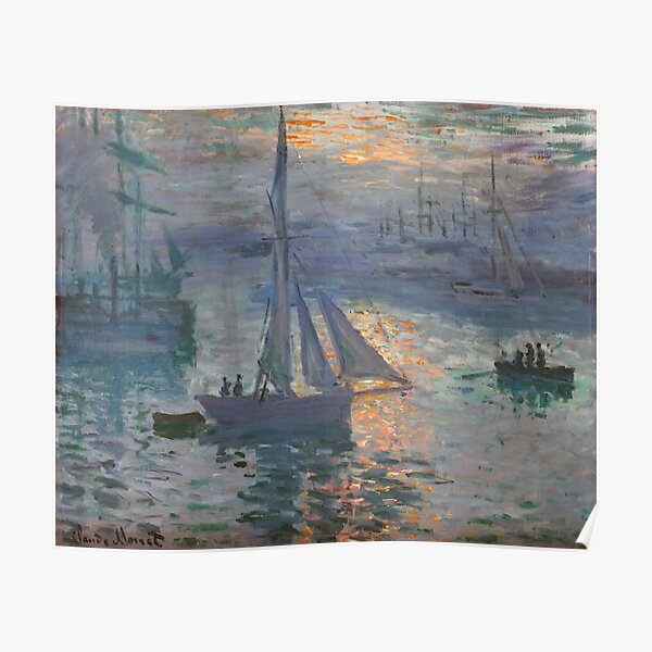 Sunrise (Marine), Claude Monet Poster