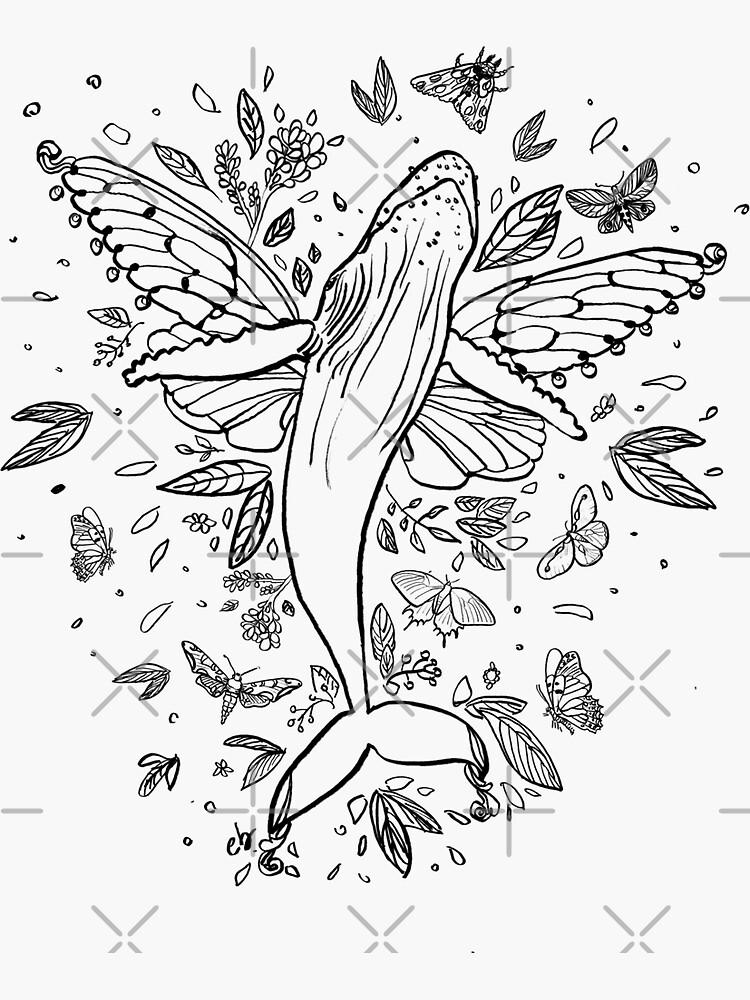 Butterfly Whale by ebozzastudio