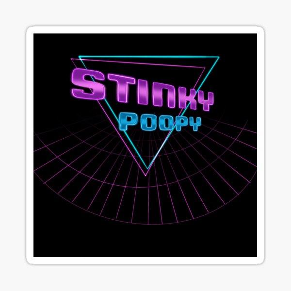 Stinky Poopy- 80s Sticker