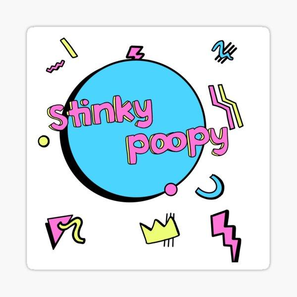 Stinky Poopy - 90s Sticker