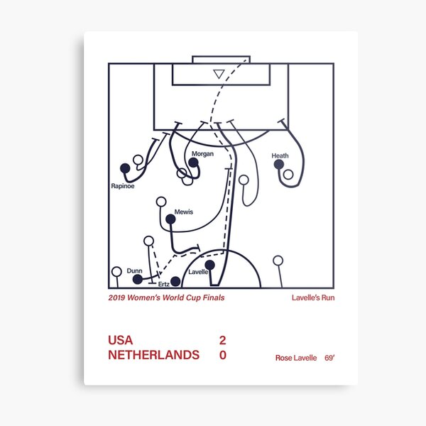USWNT Rose Lavelle Winning Goal Metal Print