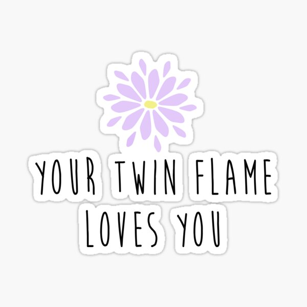 Your Twin Flame Loves You Sticker