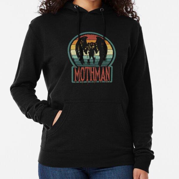 Mothman - Retro Vintage Point Pleasant, WV Cryptid Gift Lightweight Hoodie