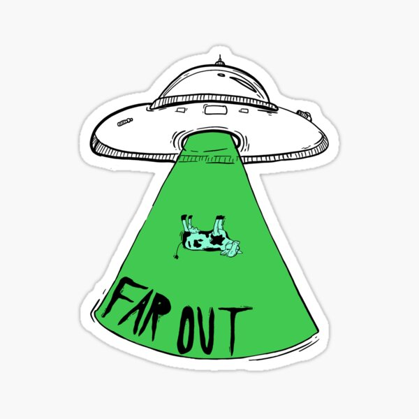 Far Out Space Abduction Sticker