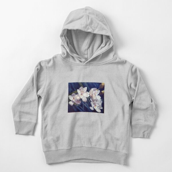 Orchid - original work - oil on canvas by Avril Thomas Toddler Pullover Hoodie