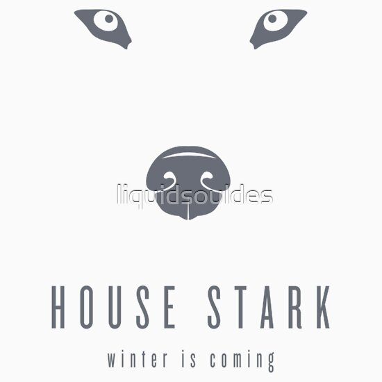 TShirtGifter presents: House Stark Minimalist T-Shirt