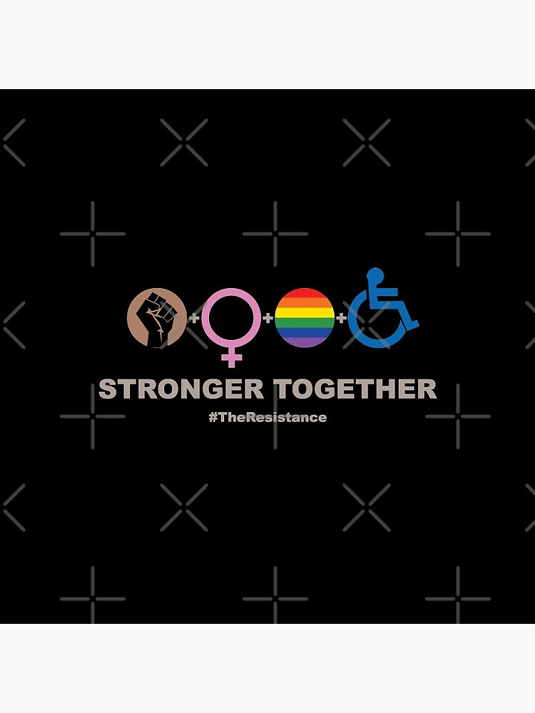 Stronger Together (V2 For Dark Fabric) by BendeBear
