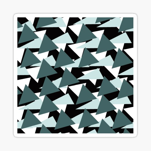 Pine and Mint Triangles Sticker
