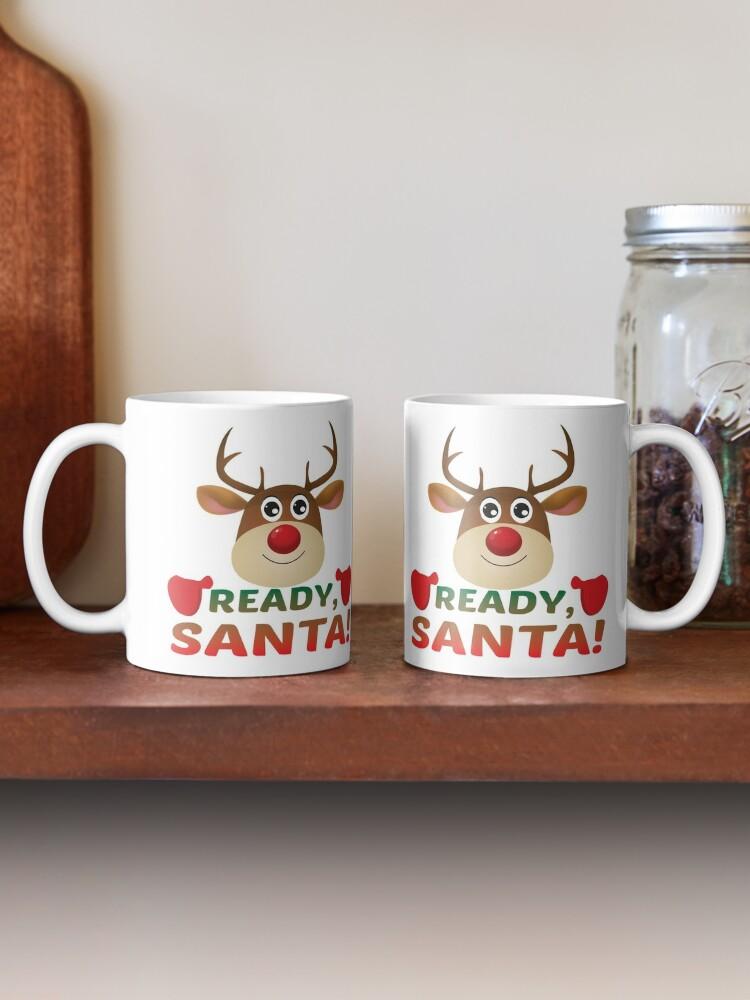 Alternate view of Christmas Rudolph, Ready Santa, Reindeer Miracle. Mug