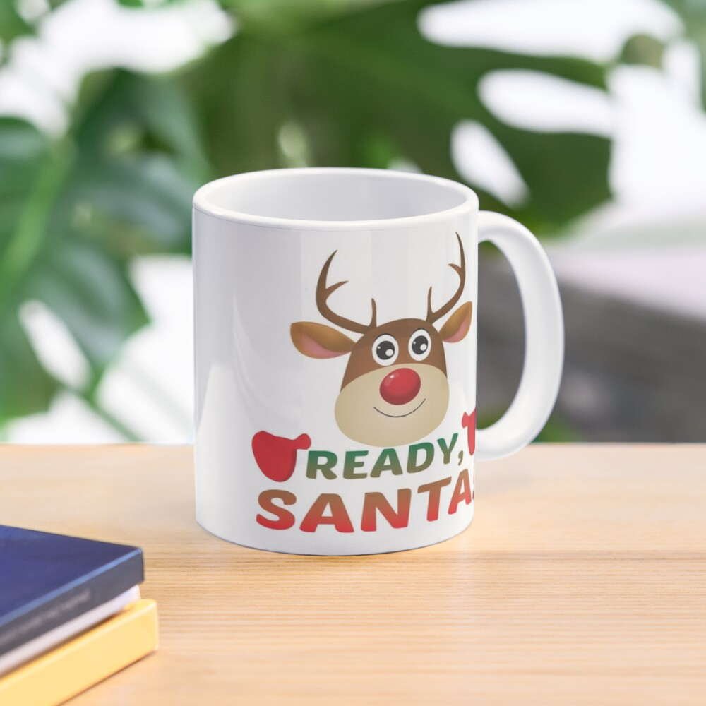Christmas Rudolph, Ready Santa, Reindeer Miracle. Mug