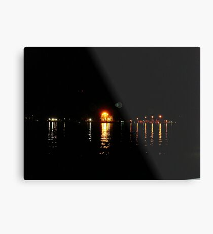 Galveston, TX from Fisherman's Wharf on the Strand Metal Print
