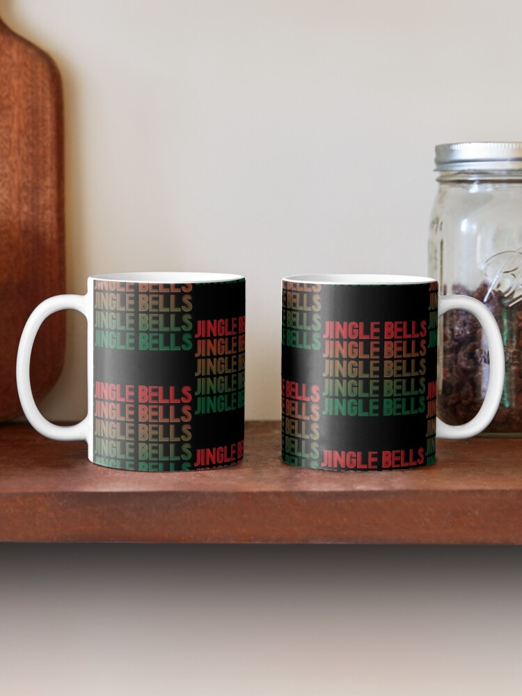 Alternate view of Jingle Bells Retro Christmas Pajama Gift. Mug