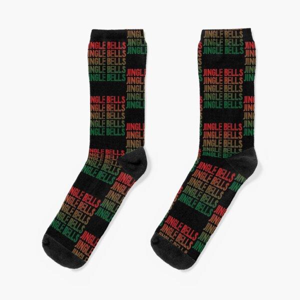 Jingle Bells Retro Christmas Pajama Gift. Socks