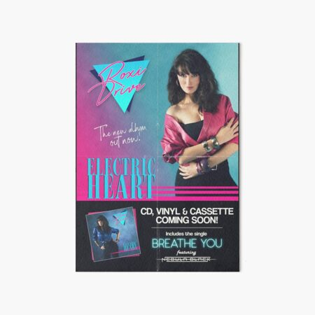 Roxi Drive - Electric Heart Album Poster Art Board Print