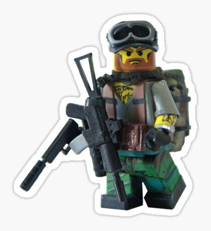 Smaller Modern Military Rabbit  Sticker