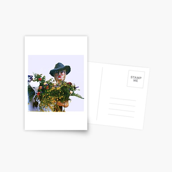 Woman with Black hat Postcard