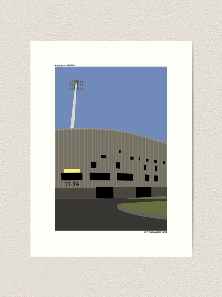 Cars Jeans Stadion Ado Den Haag Illustration Art Print By 90minutes Redbubble