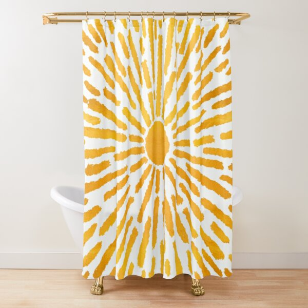 Golden Sun | Brighter Days Collection Shower Curtain