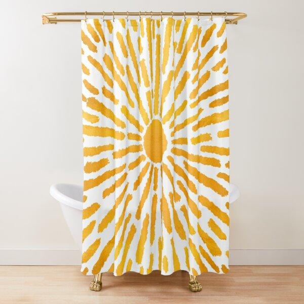 Golden Sun   Brighter Days Collection Shower Curtain